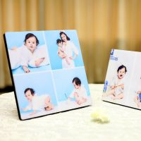 水晶相框大韩烤瓷亚米奇婚纱照摆台集体照艺术情侣创意照片框定制