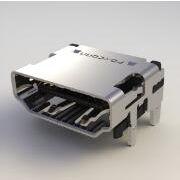 QJ51191-LFB4-7F,HDMI连接器,19P,SMT,A型,0.5间距,富士康