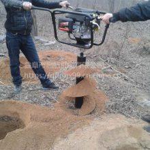 电线杆挖坑机 启航螺旋打眼机 大直径手扶式钻穴机批发
