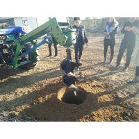 拖拉机植树挖坑机价格 拖拉机带动大型种树用挖坑机 0.8-2米深度打孔机