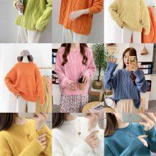 便宜韩版毛衣库存女士羊毛衫套头毛衣几元库存服装便宜毛衣清