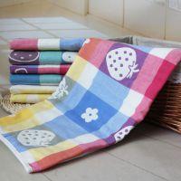 厂家批发A类童被 六6层纯棉纱布被儿童盖毯 婴幼儿浴巾包被