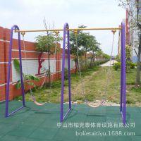 单柱儿童秋千室外健身路径 小区儿童运动器材 114管材健身设备批发零售
