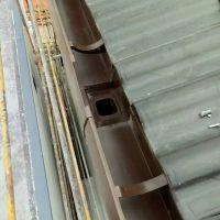 科鲁斯房屋檐槽 接水天沟 PVC雨水槽别墅排水系统