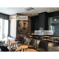 韩尔实木品牌 STARBUCKS星巴克咖啡厅沙发 星巴克沙发桌椅定做