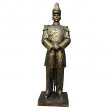 孙中山先生穿元帅服造型铸铜全身站立雕像玻璃钢仿铜蒋介石半身头胸坐塑像校园名人肖像景观园林摆件