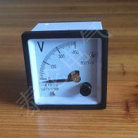 JY48方形电压表厂家 99T1-V指针式小型电压表接线 AC450V 2.5级