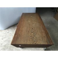 鸡翅木实木大板办公桌200长80宽 原木书桌大班台红木简约茶台福建厂家直销货源地