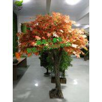 厂家热卖仿真枫叶树 异形绿萝树 装饰景观园林景区 可订做