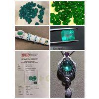 长期供应各种天然名贵宝石祖母绿裸石成品权威鉴定证书