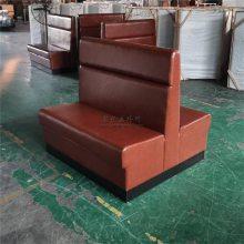 实惠便宜的火锅店卡座沙发,简约火锅餐厅软包沙发定做