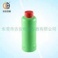 HDPE绿色高身600g圆瓶 600ml毫升化工液体瓶 厂家直销