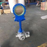 厂家直供聚氨酯耐磨刀型闸阀PZ973N-10C电动铸钢刀闸阀