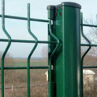 城市道路中央隔离护栏 绿化景观围栏 三折弯桃型柱铁丝网围栏