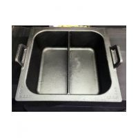 新款铸铁四方鸳鸯锅一体成型绝不串汤电磁炉燃气通用锅传统老火锅