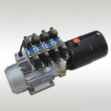 220V1.1KW-1.6CC-6L双作用电磁阀液压动力单元SKBTFLUID牌