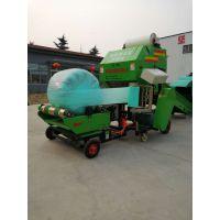 安图县全自动打包机 圆草捆打捆包膜一体机批发 圣隆秸秆打包机