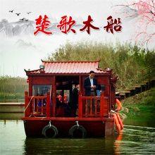 苏州连云港出售双层天台画舫船 水上餐饮会议船 豪华船舫 农家乐餐饮船
