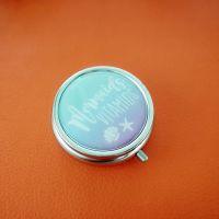 厂家直销高档金属圆形药丸盒/内盒塑胶环保材质/广告礼品药盒