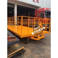 钢质 平板拖车 牵引平板车 全挂拖车 鑫升搬运牵引车