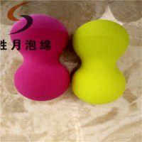 高发泡高弹海绵异形研磨球穿孔 EVA彩虹条纹球 挖孔泡棉球