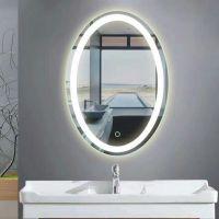 欧式无框四周双色led灯镜浴室镜壁挂卫浴镜贴墙卫生间大镜子定制