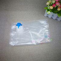 厂家定制3L蝴蝶阀透明盒中袋 食品级无菌苹果汁 蓝莓汁 杨梅汁BIB袋