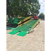 鑫升厂家定制 移动式登车桥 叉车卸货平台 机械式标准款 10吨登车桥厂家