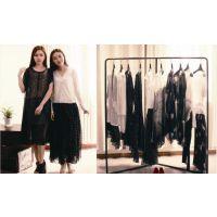 上海品牌纯色折扣女装高端货源 上海莫名 和言欧美风格桑蚕丝女装尾货供应