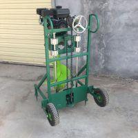 小型手推汽油电线杆挖坑机 园林植树挖坑机 启航牌园林植树打坑机