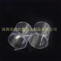 厂家定制环保透明pvc圆筒 空白印刷塑料圆筒盒 pvc服饰包装盒等