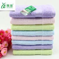 雅渲新款竹纤维缎档毛巾 成人家用 吸水面巾可刺绣