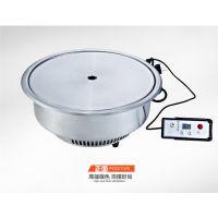 韩国无烟光波电烧烤炉/商用韩式自助式烧烤炉/圆形电烤炉