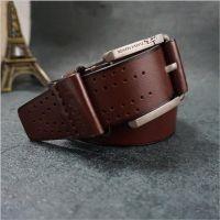 皮带订做新款半包皮革针扣防过敏腰带外贸腰带定制厂家批发