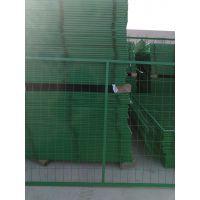 供应铁路框架护栏网 绿色铁丝养殖网现货铁丝网围栏网双边丝护栏