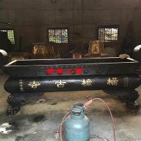 供应长方形平口铜铁香炉甘肃兰州纪念馆公墓古佛寺香炉天地炉