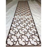 亮光无指纹拉丝玫瑰金铝板镂空屏风花格造型时尚优美