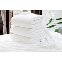星级酒店宾馆浴巾纯棉白浴巾32股500克厂家批发