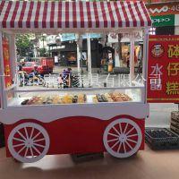 商场专用砵仔糕售货车 步行街美食街木质售卖车售货车手推车康图