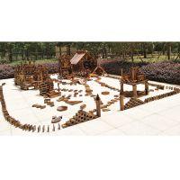 向天歌 户外大型积木 木制 幼儿园碳化大积木 炭烧积木 儿童早教益智积木 构建区玩具