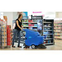 容恩拖线式洗地机R50小型仓库车间超市用电源式盘刷洗地吸干机