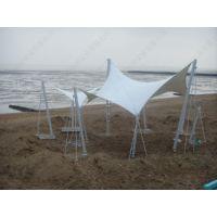 厂家专业设计膜结构定制安装沙滩景观棚PVDF景区膜结构遮阳篷