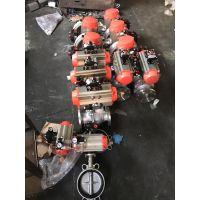 不锈钢气动对夹式蝶阀D671X-16P