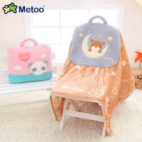厂家直供Metoo咪兔萌团空调被 创意款弹力抱枕毯子三合一 办公室两用抱枕被
