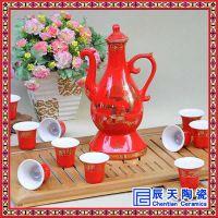 景德镇陶瓷青花瓷自动酒具套装 防溢中式家用酒壶批发