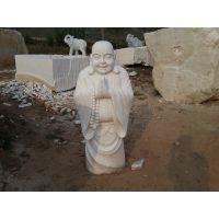 石雕汉白玉佛像寺庙观音弥勒佛站像景观小区镇宅摆件定做