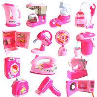 儿童过家家厨房玩具 套装迷你小家电仿真电动厨具小女孩女童灯光