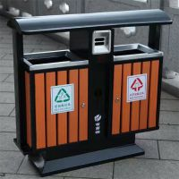 献县鑫建供应钢木垃圾桶 环卫垃圾桶 分类果皮箱 果壳箱 垃圾箱