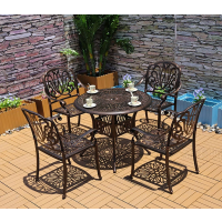 户外桌椅铸铝庭院阳台室外休闲桌椅,户外酒吧咖啡厅餐饮店餐桌椅