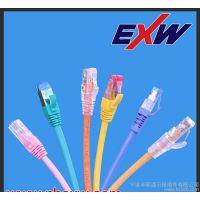 """宁波卓新(EXW) 超五类(CAT.5E)超五类非屏蔽跳线水晶头镀金50U"""" 100%测试通过多款供"""